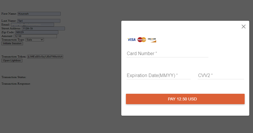 Hosted Payment Form