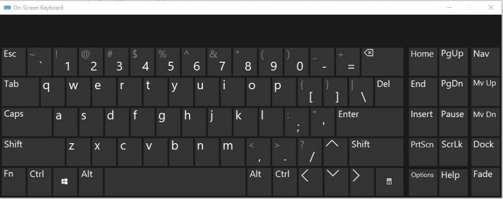 Windows Onscreen Keyboard