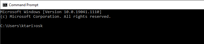 Command line to open Windows OSK