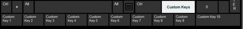 Custom Keys Row