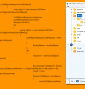 Manage objects in AWS S3 Buckets in C#